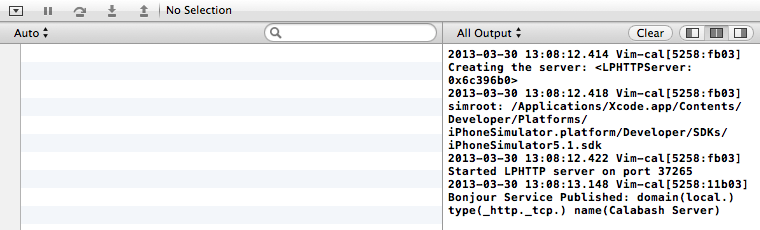 Vim App output