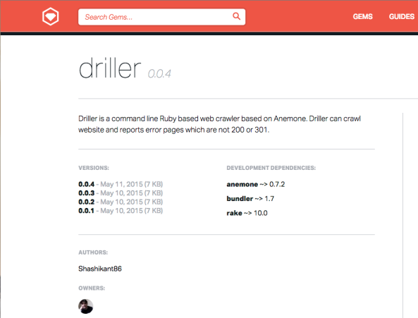Introducing Driller: Command Line Ruby based Web Crawler