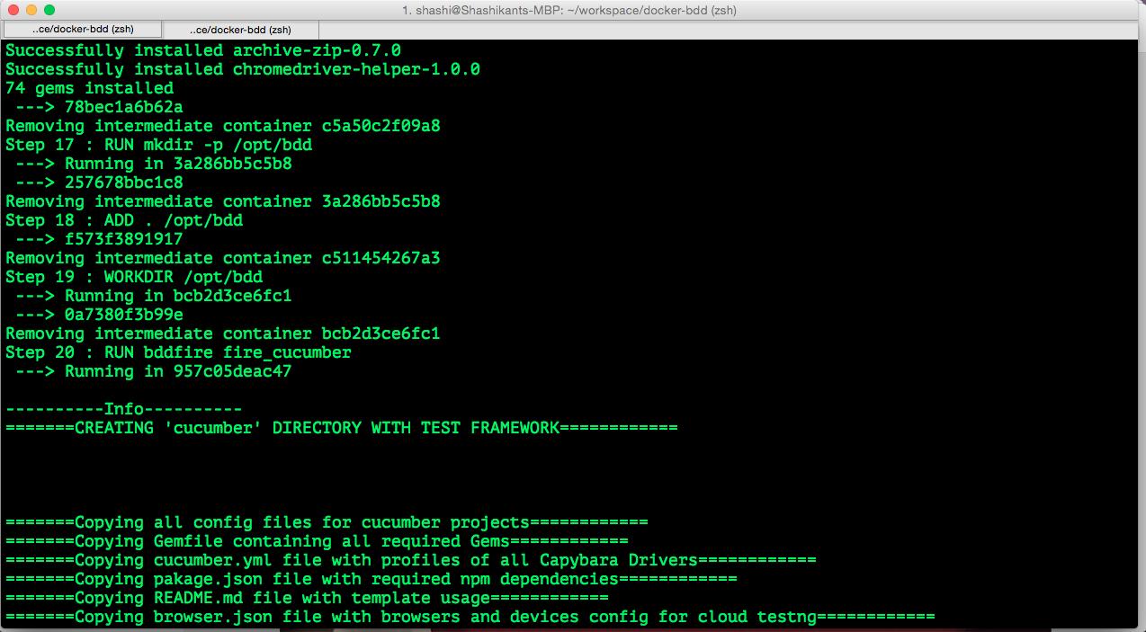 Dockerizing Cucumber-BDD and Ruby Friends – XCBLOG