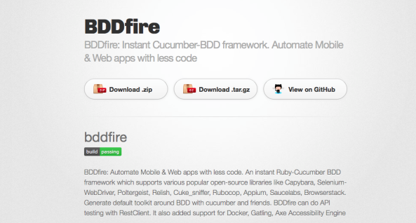 BDDfire: Continuous Integration with TravisCI and new webpage